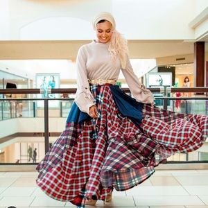 Plaid About It Maxi skirt